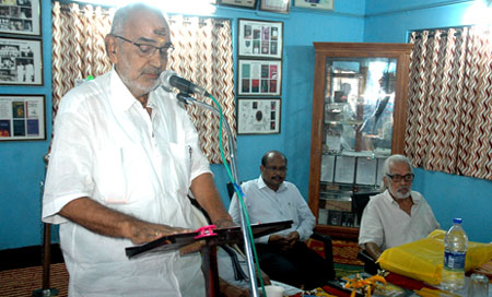 C. Haridas, ex.MP speaking